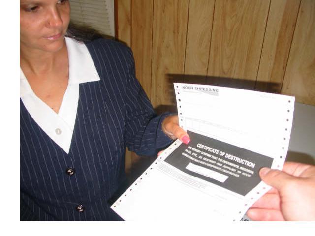 Bank Of America Document Shredding Koch Shredding Why Shred